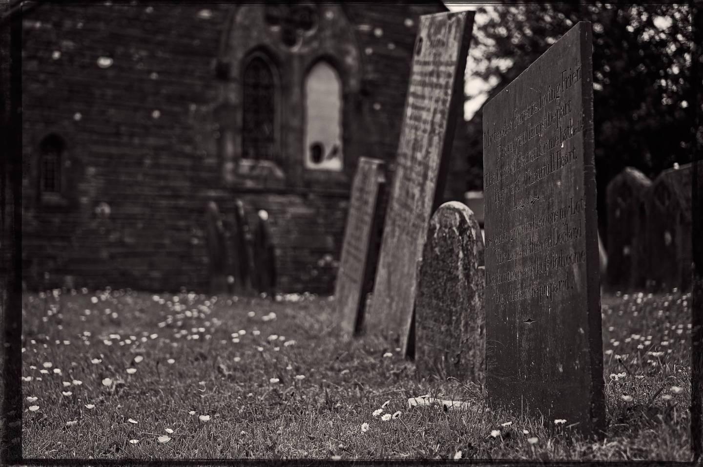 Gravestones in Lynton.